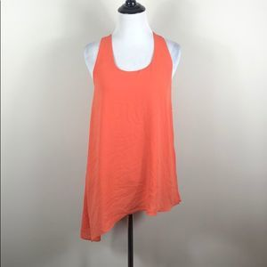 The Limited Top Assymetrical Orange Hem Tank